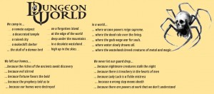 Dungeon World Campaign Decisions